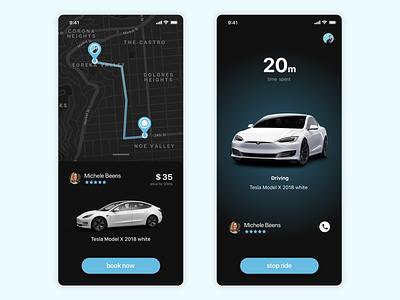 Ride sharing app dailyui uidesign uxdesign user experience design user interface ux ui ios app
