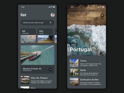 Travel UI kit - preview