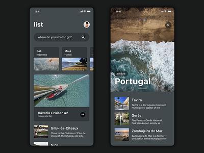 Travel UI kit - preview user interface design cards ux ui ios app uikit