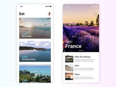 Wonderland UI kit user interface design cards ux ui ios app