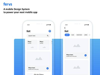 fervs design system ux ui app user interface figma sketch ios design system uikit