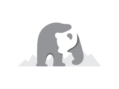 Bear Negative Space Logo