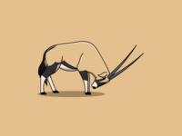 Gemsbok Illustration