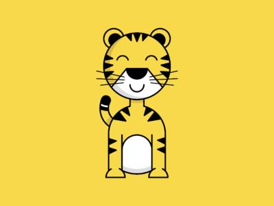Minimal Tiger Illustration