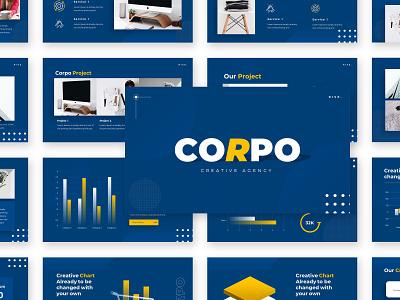 Corpo – Creative Business Presentation Template building slides template powerpoint presentation keynote design creative business branding