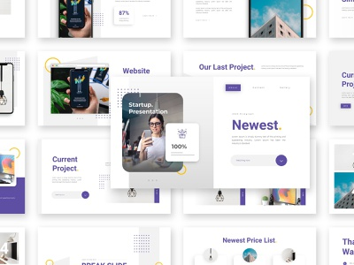 Newest – Startup Service Presentation Template project slides multipurpose minimal product presentation startup template powerpoint creative business branding