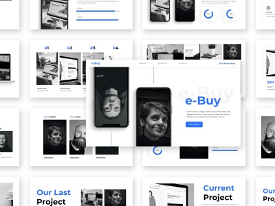 Ebuy – Ecommerce Service Presentation Template presentation ui slides template powerpoint simple minimal creative shop ecommerce business branding