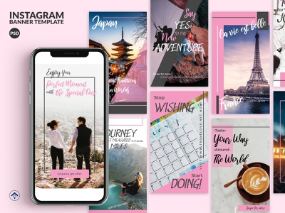 Travelove - Travel Instagram Stories Template travel app travel agency journey couple adventure instagram web banner banner ad blog trip holiday vacation travel creative