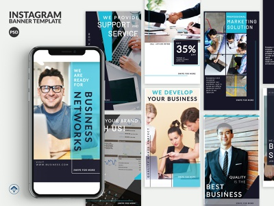Solution - Business Instagram Stories Template banner ad instagram sales page promotion finance design branding solution marketing agency marketing service support network creative business