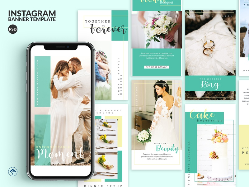Marriage - Wedding Event Instagram Stories Template template instagram makeup preweddingmakeup preweddingidea moment photography couple beauty organizer event invitation wedding marriage
