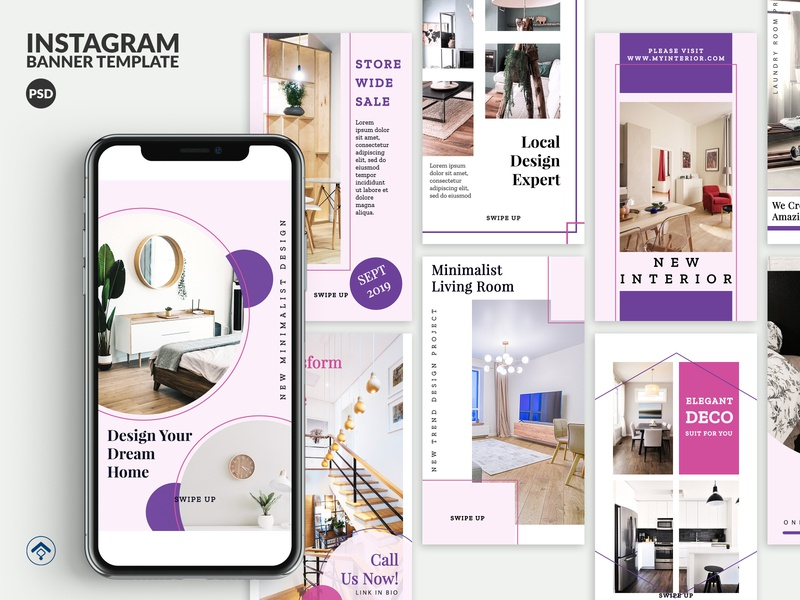 Cozy - Interior Design Instagram Stories Template marketing property promotion project decoration  company decoration furniture app furniture architecture design interiordesign interior