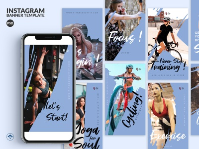 Challenge - Fitness Instagram Stories Template instagram stories banner ad instagram training app promotion product fitness app exercise instructor workout trending gym yoga sport fitness