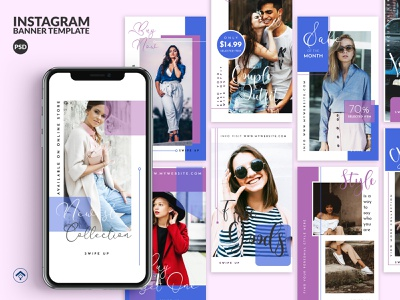 Bluesky V2 - Fashion Instagram Stories Template template instagram stories instagram modern stylish minimalist elegant blog brand store arrival outfit trend sale promotion design fashion