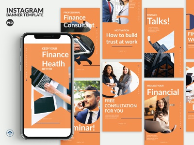 Growth - Finance Instagram Stories Template template instagram stories banner ad instagram seminar consultant networking network brand identity marketing agency marketing finance business creative