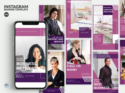 Discover - Creative Business Instagram Stories Template template banner ad instagram stories instagram design branding solution growth agency service support marketing networking business creative