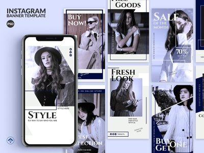 Topaz - Fashion Instagram Stories Template template instagram stories instagram arrival collection coupon discount trend style promotion sale design creative business fashion design fashion brand fashion