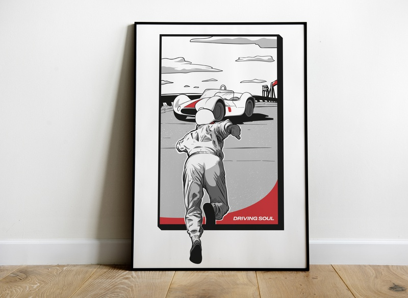Le Mans inspired Poster Print