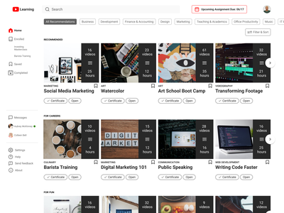 YouTube Learning figma web information architecture ui ux design