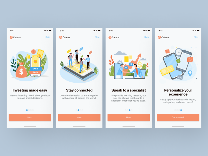 Catena typography app branding ui ux figma design