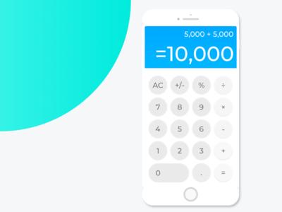 Calculator simple design ui