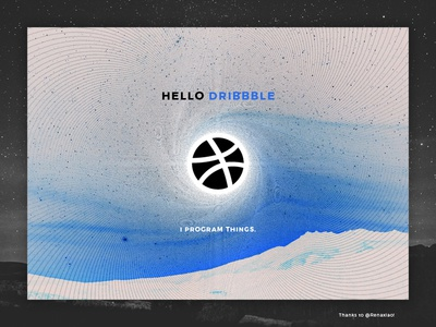 Hello Dribbble! gravity debut javascript canvas