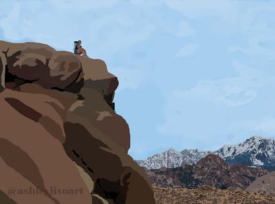 Bishop Landscape Illustration