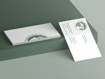 National Park Service Logo - Abstract Mark business card mockup