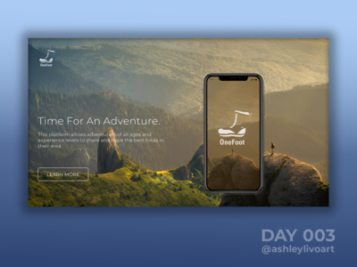 """""""OneFoot"""" App - Landing Page"""