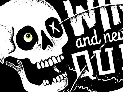 Skull Typography Illustration