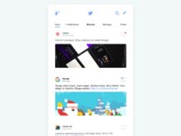Twitter Feed Redesign #DailyUI [1]