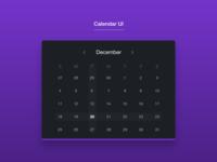Calendar UI #DailyUI [3]