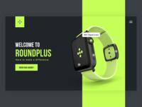 Roundplus Landing Page #DailyUI #003