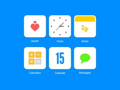 Minimal IOS Icons #DailyUI #005 app icon simplistic simple dailyui ux ui app icon minimal