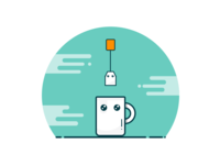 Pure Css -- Cup of Tea Character