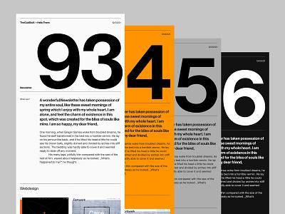Newsletter minimal grid neue haas grotesk helvetica typography newsletter