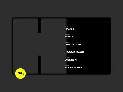 FFForwardfilms Website typography design website design website gallery grid minimal ui webdesigner webdesign