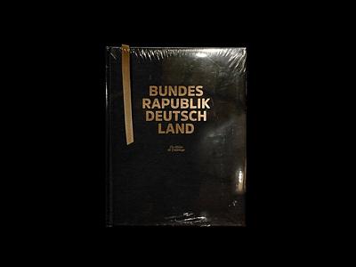 Bundesrapublik Deutschland gold minimal typography rap hiphop illustration editorial design editorial