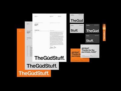 TheGüdStuff. stationery design raster grid helvetica swiss style typography branding stationery