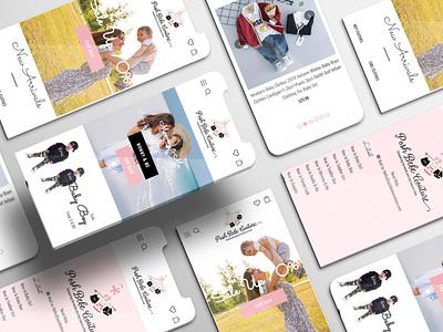 Posh Bebe Couture - Website Design webdesign website ui design website design