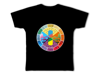 Pigments-Rares Tee-Shirt tee-shirt chromatic craft form pigment colours colorant