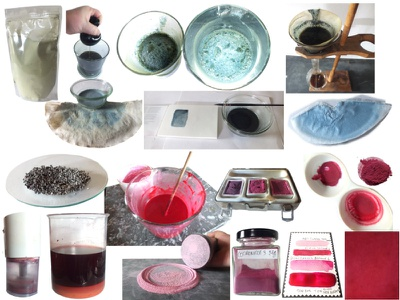 Blu Indigo & Red Cochineal Howto tutoriel lecons photo didactique howto cochineal indigo pigments
