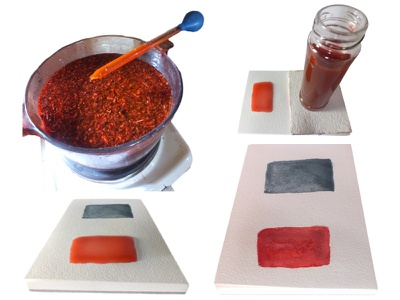 Madder Ink Howto tutoriel lecons photo didactique howto madder indigo pigments