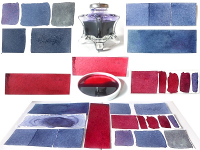 Damour's Red and Blue Dyes 2018 blue red inks dyes colours craft