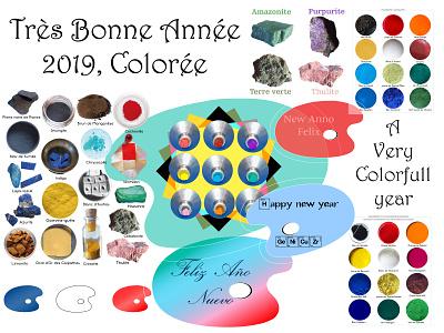 Bonne Année Colorée bonne année