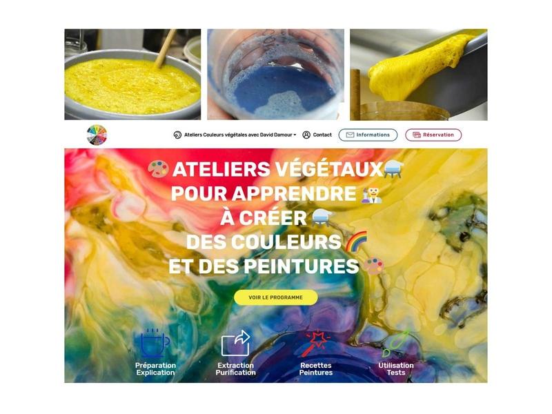 Vegetal Workshop Poster workshop vegetal craft colours