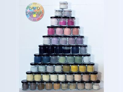 55 Pigments from Plants teintes couleurs couleur art peintures powder pigments chromatic colours craft