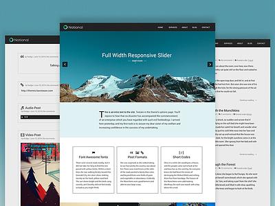 National theme web design wordpress ui