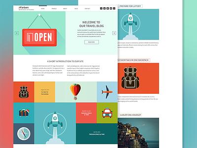 Farben theme web design wordpress ui colours
