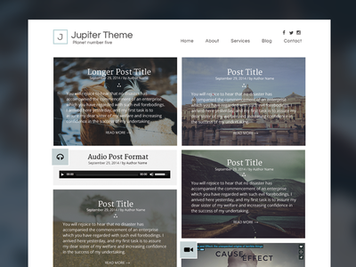 Jupiter Theme theme web design wordpress ui