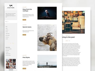 Atlas Theme blog web design theme wordpress
